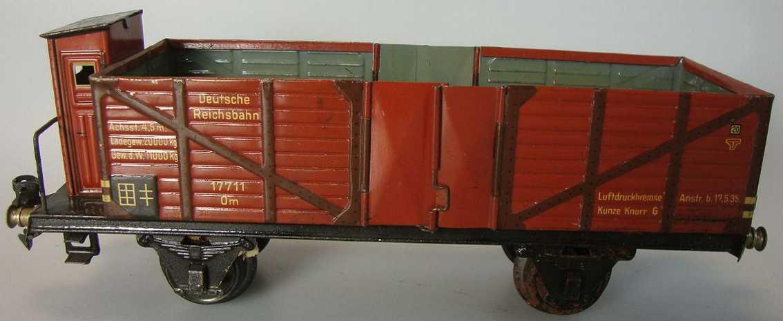 maerklin 1771/1 spielzeug eisenbahn hochbordwagen spur 1