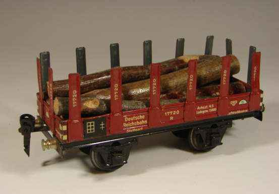 maerklin 1772/0 G eisenbahn rungenwagen rotbraun spur 0