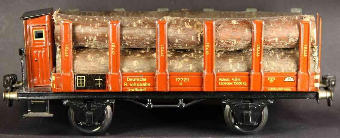 maerklin 1772/1 g spielzeug eisenbahn rungenwagen spur 1