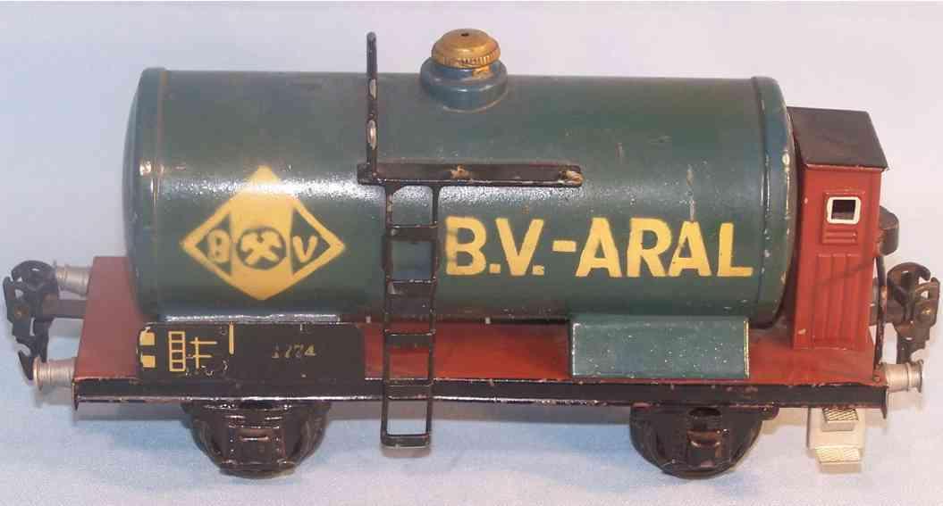 maerklin 1774/0 bv-aral spielzeug tankwagen spur 0