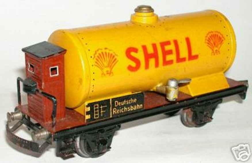 maerklin 1774 s/k spielzeug kesselwagen gelb shell spur 0
