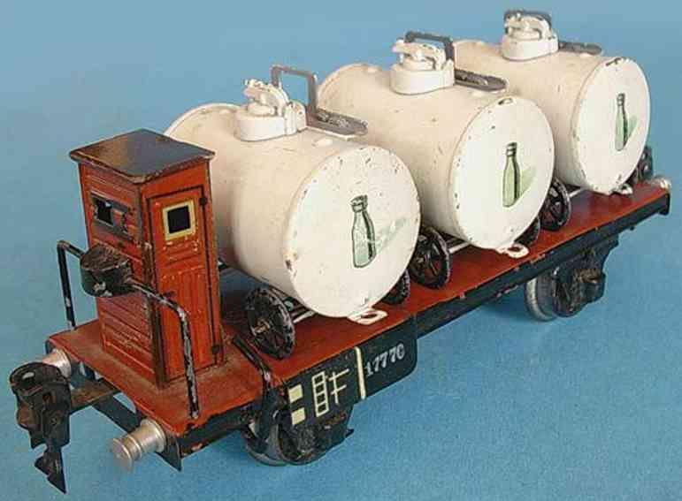 maerklin 1777/0 spielzeug eisenbahn milchtransportwagen braun spur 0
