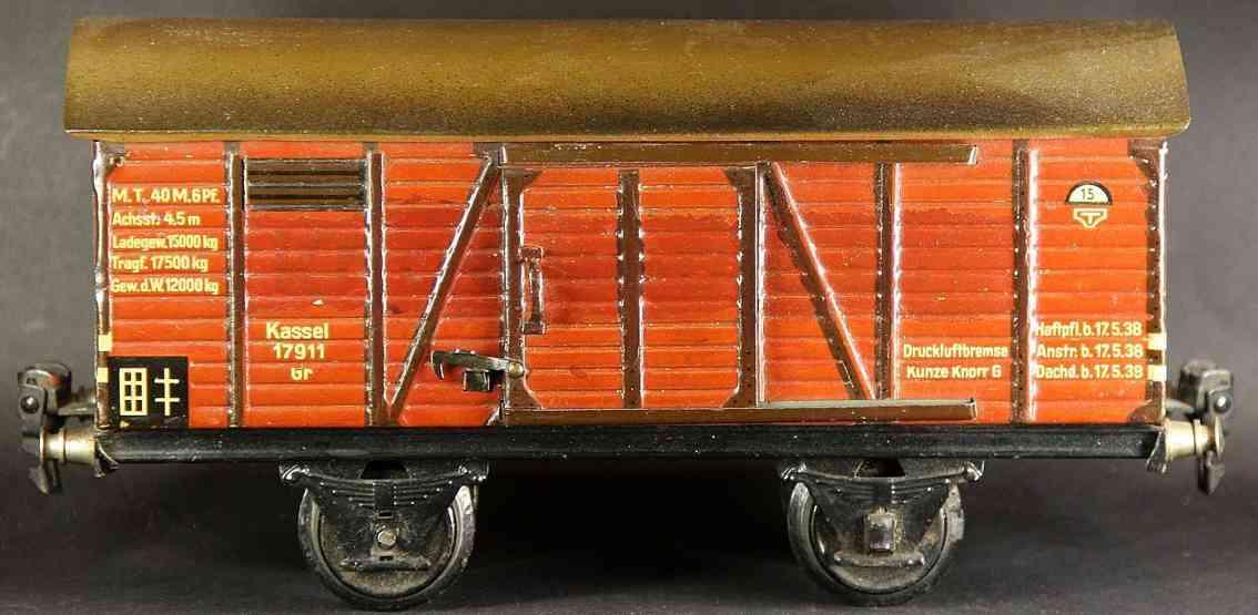maerklin 1781/1 spielzeug eisenbahn gedeckter gueterwagen spur 1