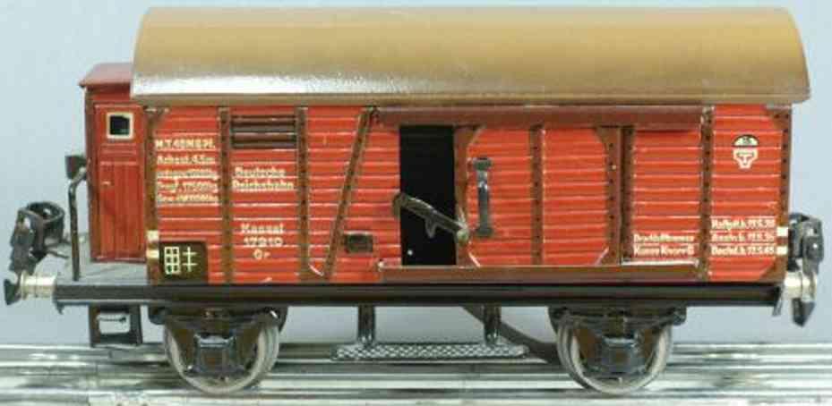 maerklin 1791/0 B spielzeug eisenbahn gedeckter gueterwagen rotbraun spur 0
