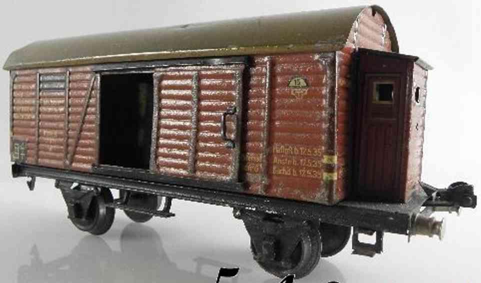 maerklin 1791/1 b spielzeug gedeckter gueterwagen rotbraun bremserhaus spur 1