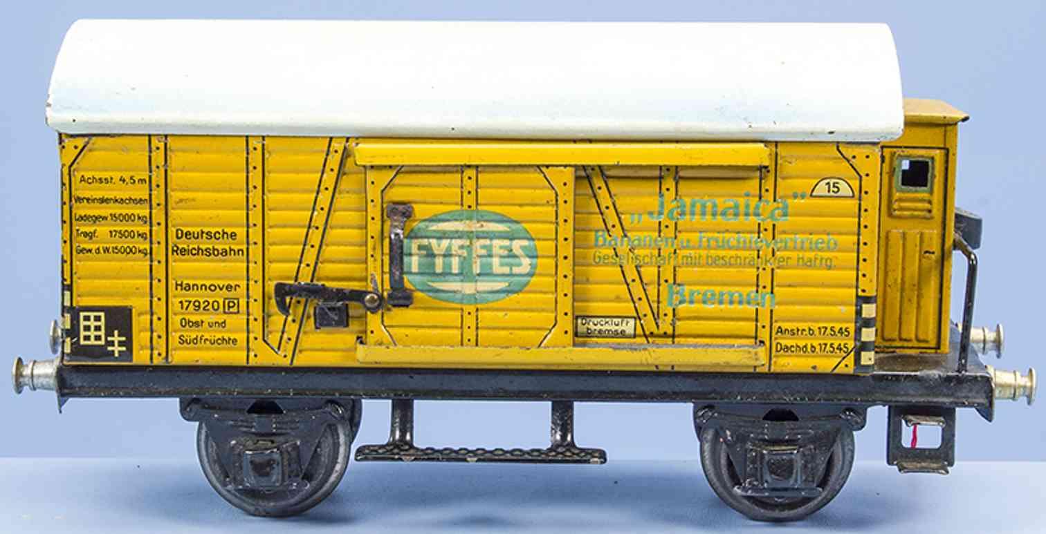 marklin 1792/0 railway toy banana car yellow gauge 0