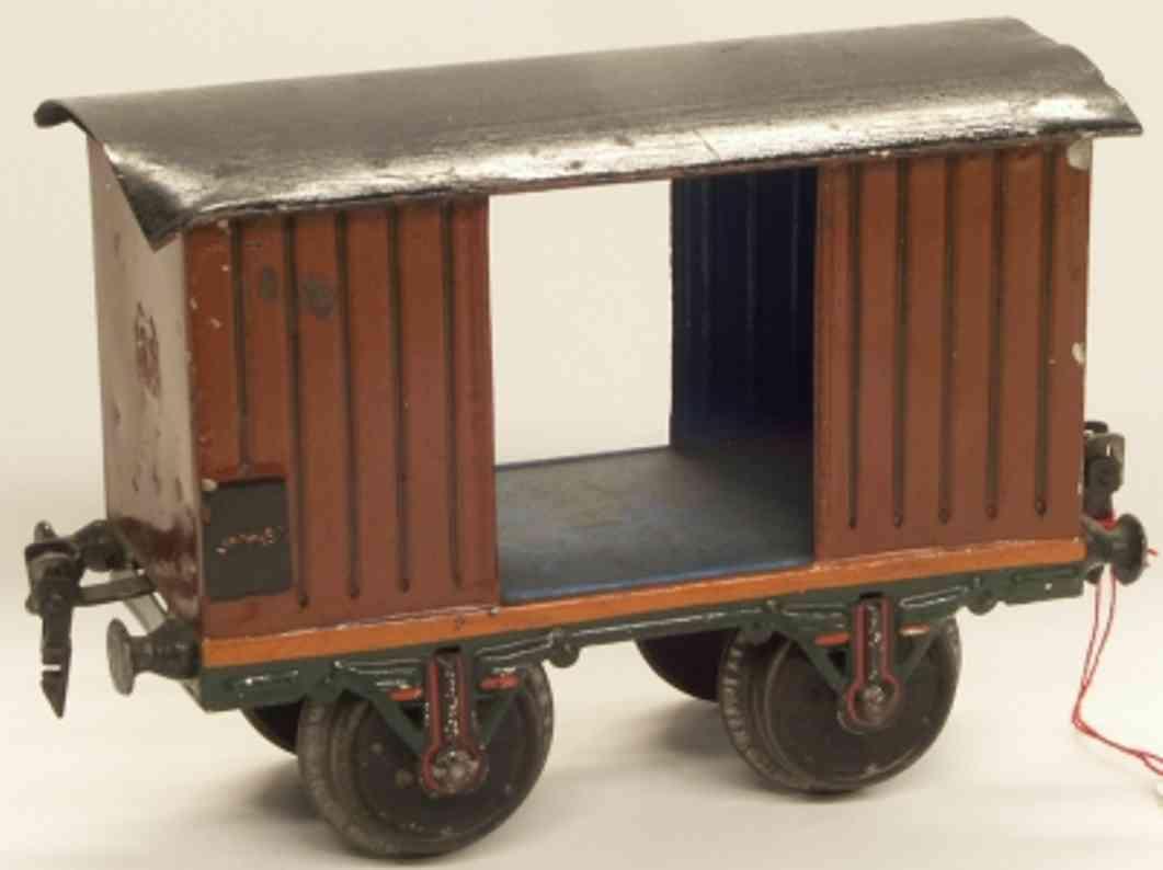 maerklin 1803/2 (1909) spielzeug eisenbahn gedeckter gueterwagen spur 2