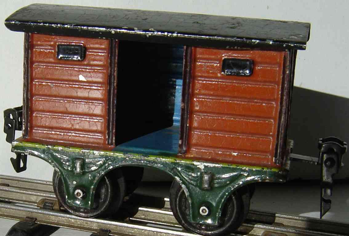 maerklin 1803/0 spielzeug eisenbahn gedeckter gueterwagen gepaeckwagen braun spur 0