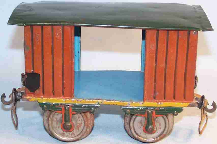 maerklin 1803/II eisenbahn gedeckter gueterwagen braun schwarz spur 2