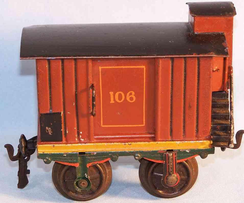 maerklin 1804/1 spielzeug eisenbahn gedeckter gueterwagen spur 1