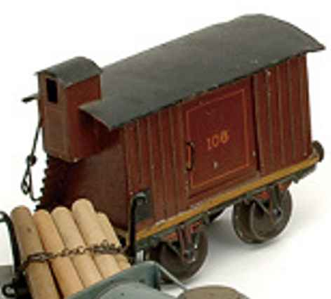 maerklin 1804/2 spielzeug eisenbahn gedeckter gueterwagen spur 2