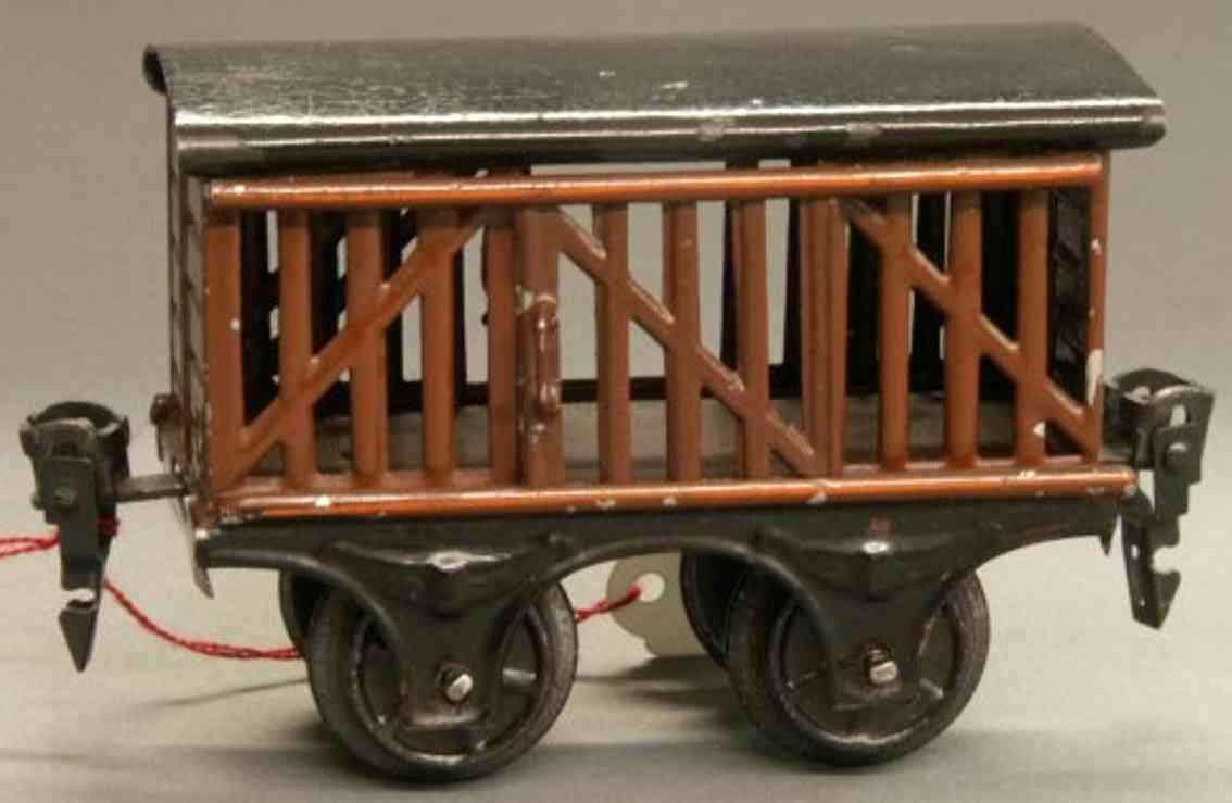 maerklin 1809/0 (1922) spielzeug eisenbahn viehwagen spur 0