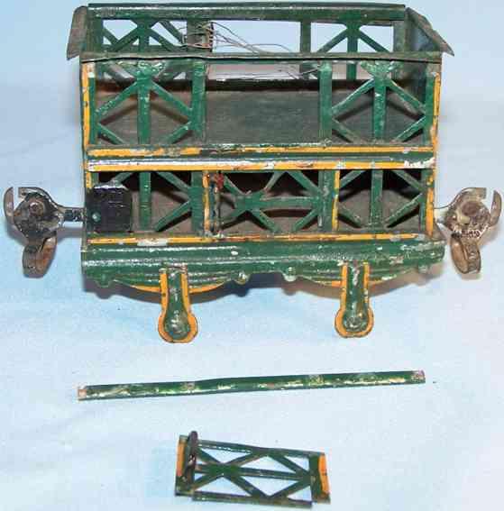 maerklin 1809/2 spielzeug eisenbahn zweistoeckiger kleintierwagen spur 2