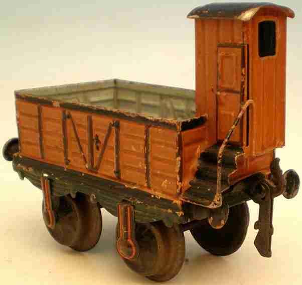 maerklin 1817/1 spielzeug eisenbahn offener gueterwagen mit bremserhaus spur 1