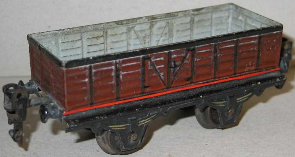 maerklin 1819/0 spielzeug eisenbahn offener  gueterwagen rotbraun spur 0