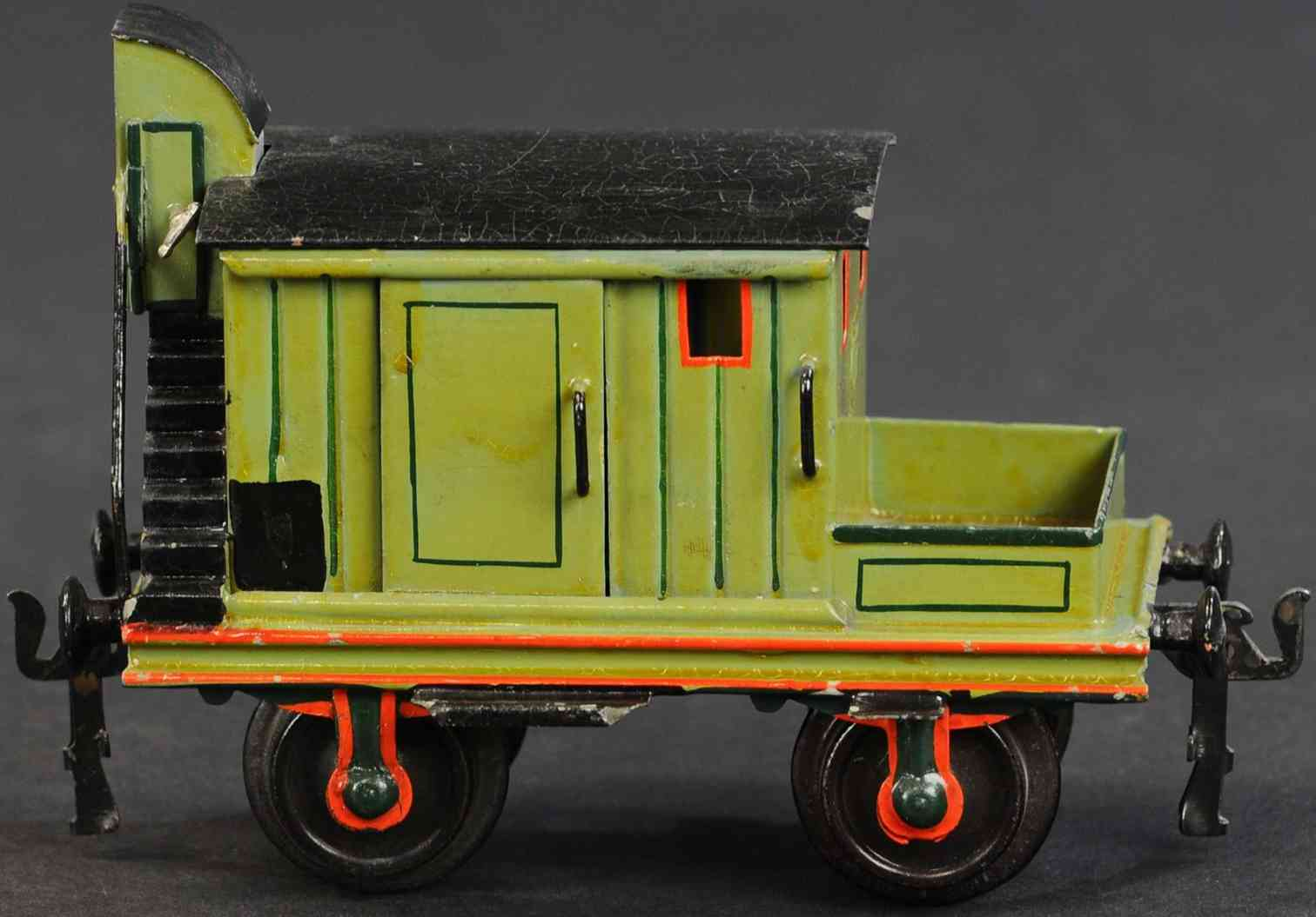 maerklin 1827/1 eisenbahn gueterwagen hilfswagen gruen spur 1