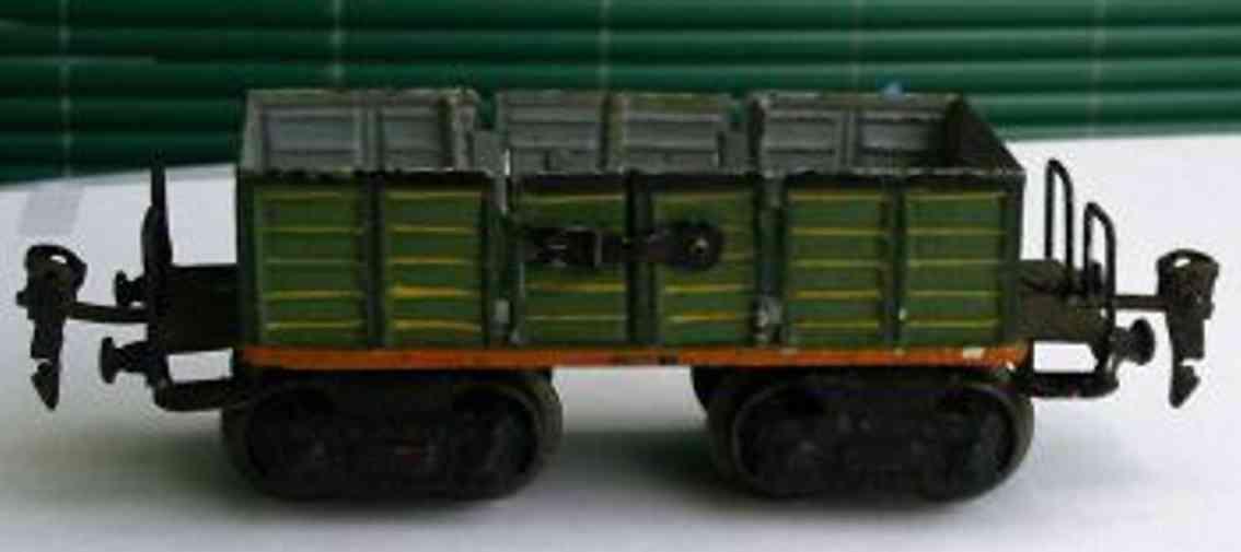 maerklin 1845/0 spielzeug eisenbahn offener gueterwagen olive gruen spur 0