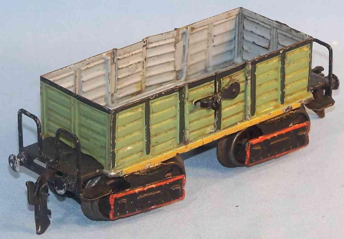 maerklin 1845/0 spielzeug eisenbahn hochbordwagen gruen spur 0
