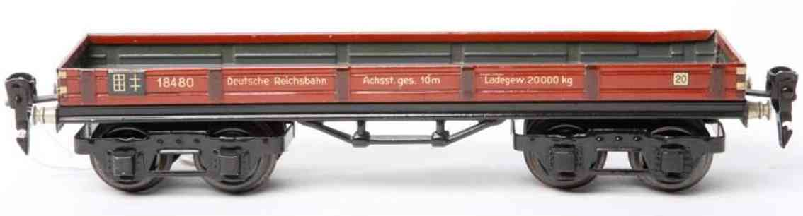 maerklin 1848/0 spielzeug eisenbahn niederbordwagen spur 0