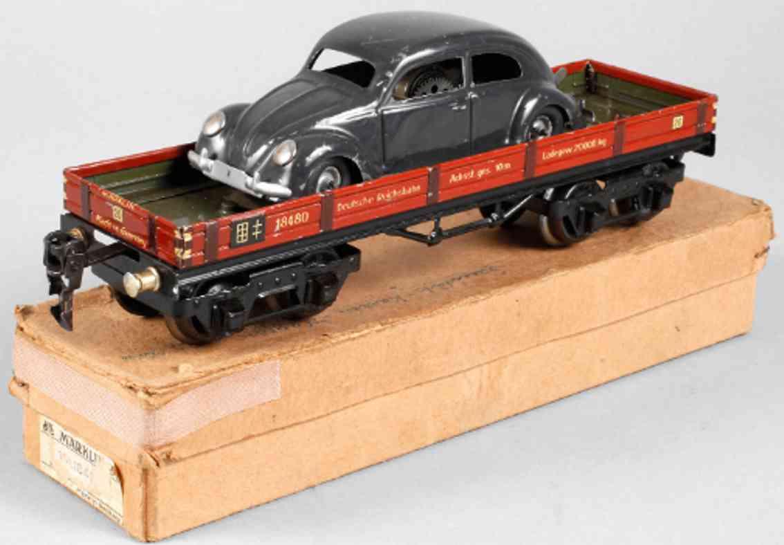 maerklin 1848/0 a spielzeug eisenbahn niederbordwagen rotbraun spur 0