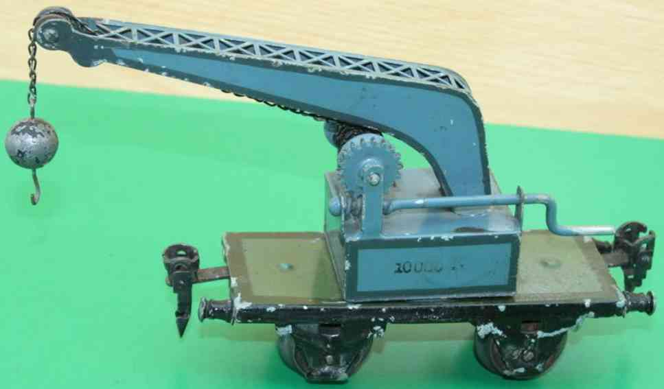 maerklin 1851/0 spielzeug eisenbahn kranwagen blaugruen spur 0