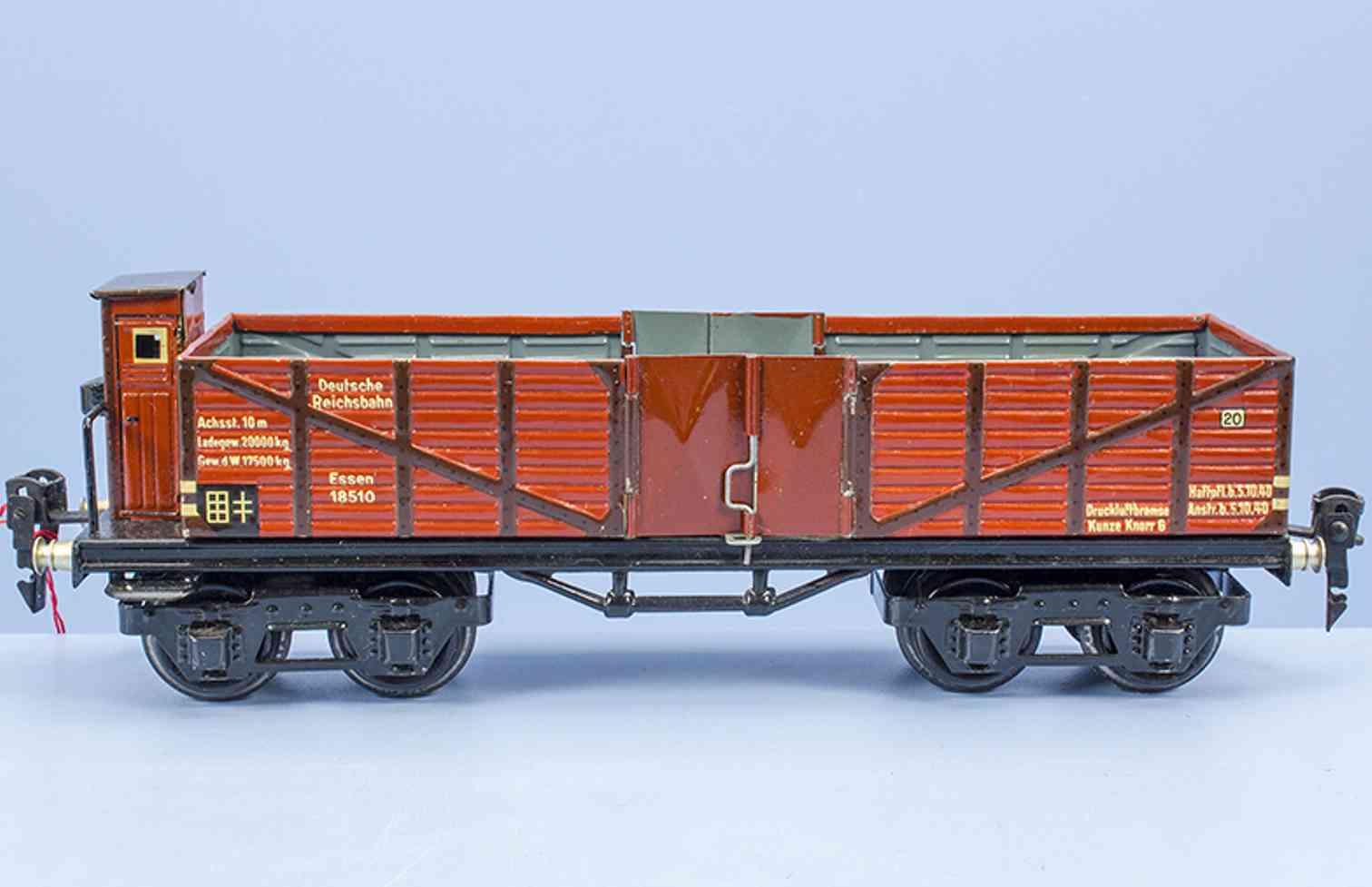 maerklin 1851/0 spielzeug eisenbahn hochbordwagen mit bremserhaus spur 0