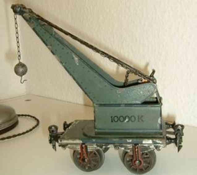 maerklin 1851 spielzeug eisenbahn kranwagen blaugruen spur h0