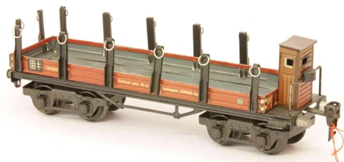 maerklin 1852/0 spielzeug eisenbahn rungenwagen in rotbraun spur 0