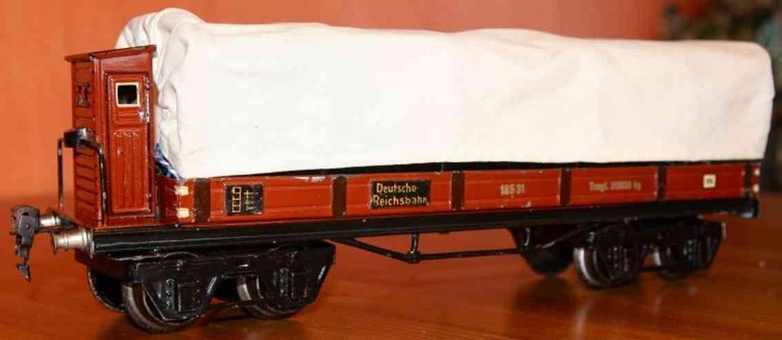maerklin 1853/1 spielzeug eisenbahn planewagen bremserhaus spur 1