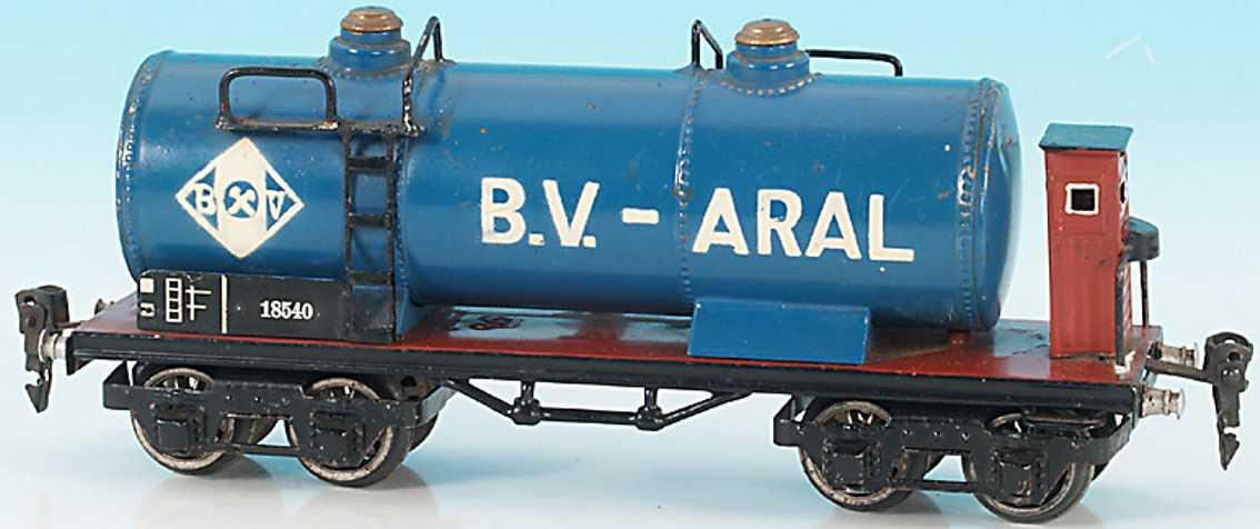 maerklin 1854/0 spielzeug eisenbahn kesselwagen aral spur 0