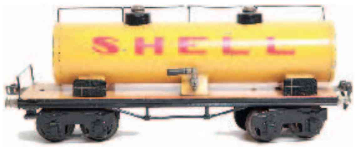 marklin 1854/1 s white railway toy tank car shell yellow gauge 0