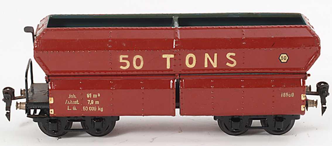 maerklin 1855/0 spielzeug eisenbahn selbstentladewagen spur 0