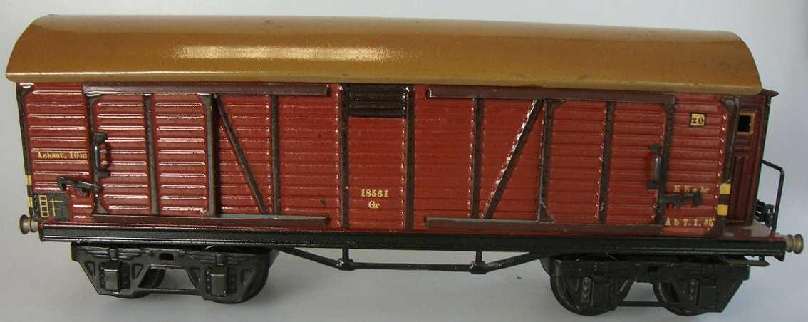 maerklin 1856/1 spielzeug eisenbahn gedeckter gueterwagen spur 1