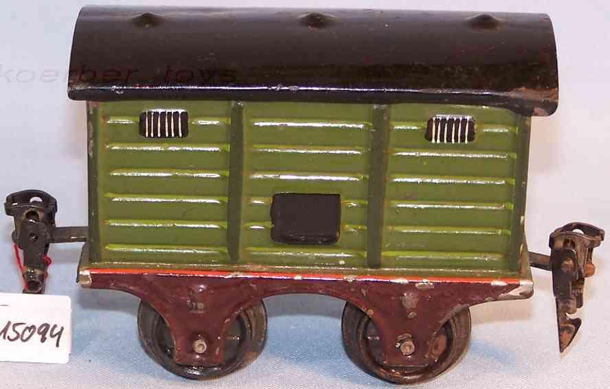 maerklin 1857/0 spielzeug eisenbahn gedeckter gueterwagen oliv gruen spur 0