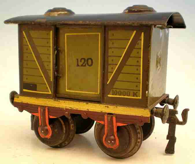 maerklin 1857/1 (1903) spielzeug eisenbahn gedeckter gueterwagen spur 1