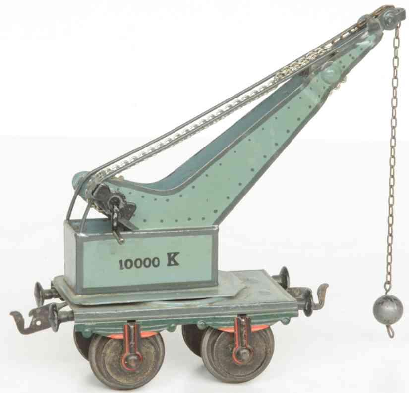 maerklin 1858/1 spielzeug eisenbahn kranwagen blaugrau spur 1