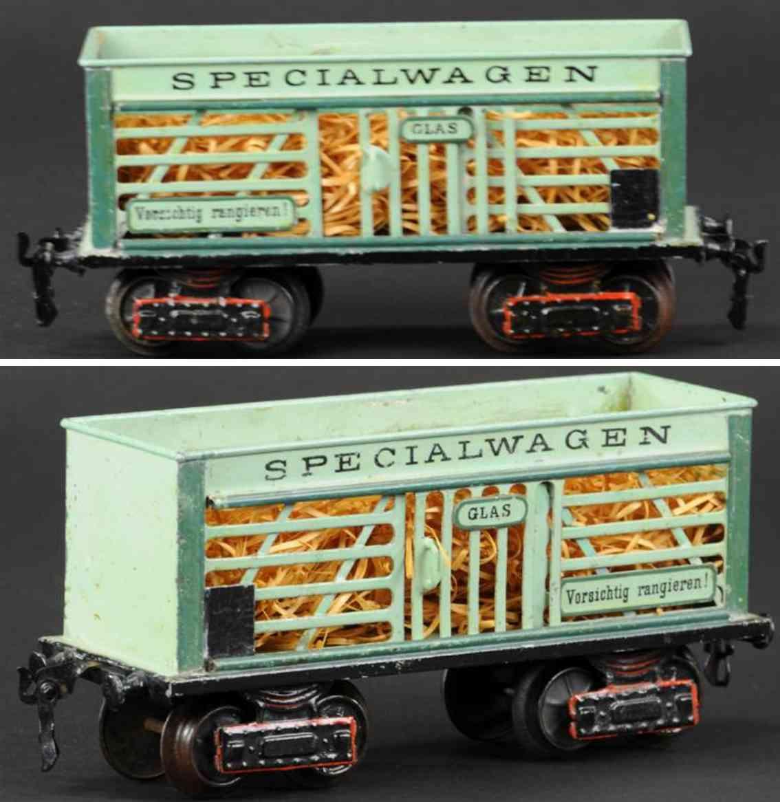 maerklin 1870/1 spielzeug eisenbahn glaswagen hellgruen spur 1