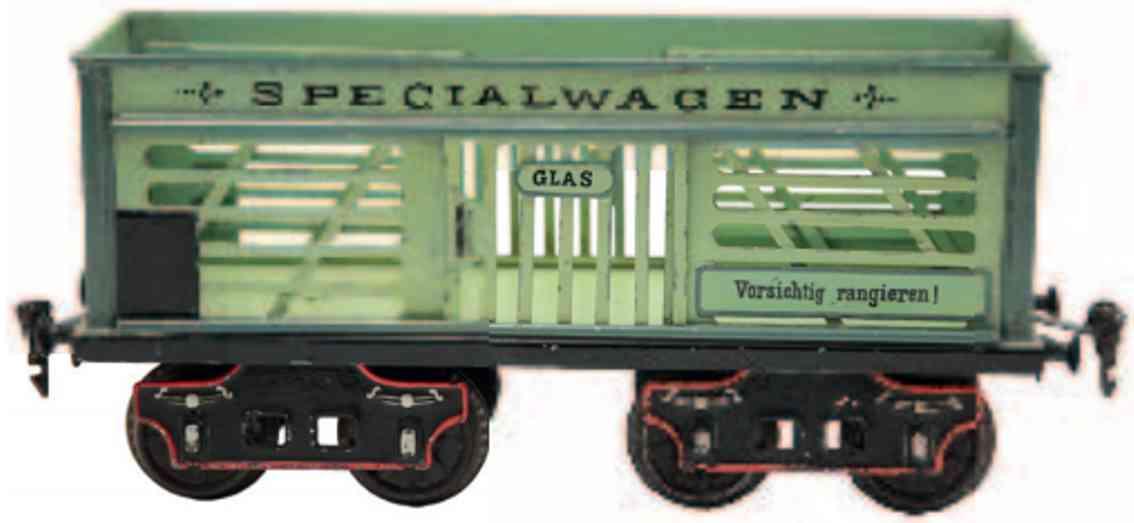 marklin 1870/II railway toy gondola ligth green specialwagen gauge 2