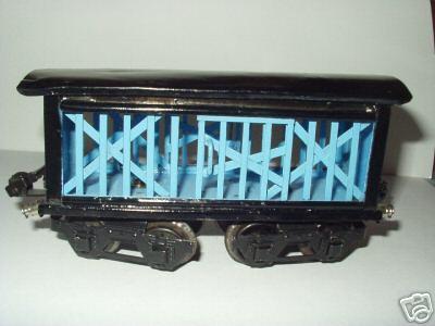 maerklin 1871/0 spielzeug eisenbahn viehtransportwagen blau spur 0