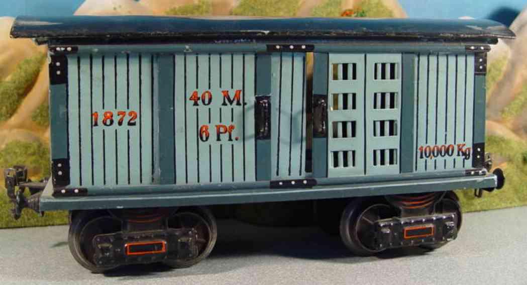 maerklin 1872/1 gueterwagen pferdetransportwagen blau schwarz spur 1