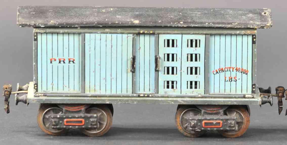 marklin 1872/1 prr railway toy american good or horse car blue black gauge 1