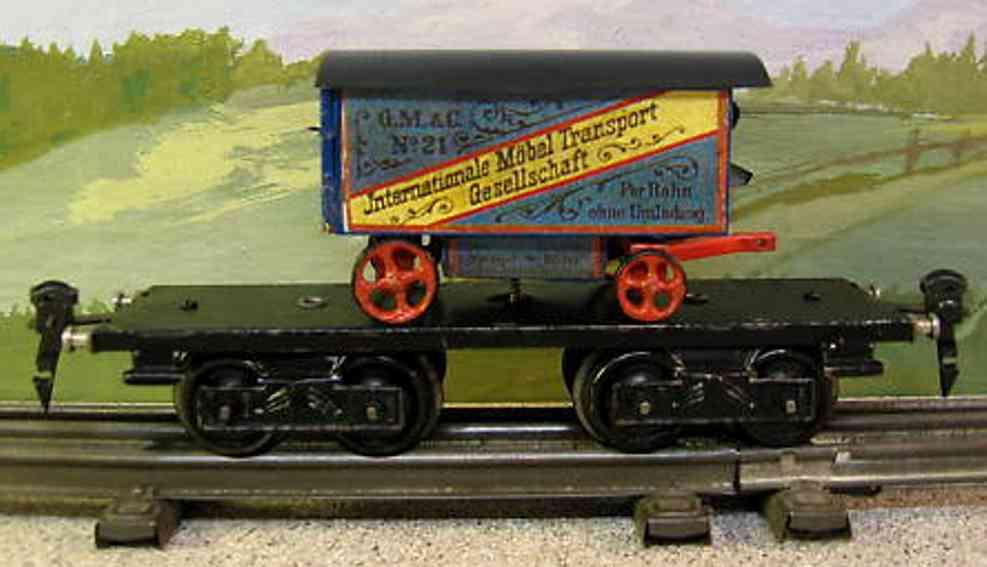maerklin 1877/0 spielzeug eisenbahn moebeltransportwagen spur 0