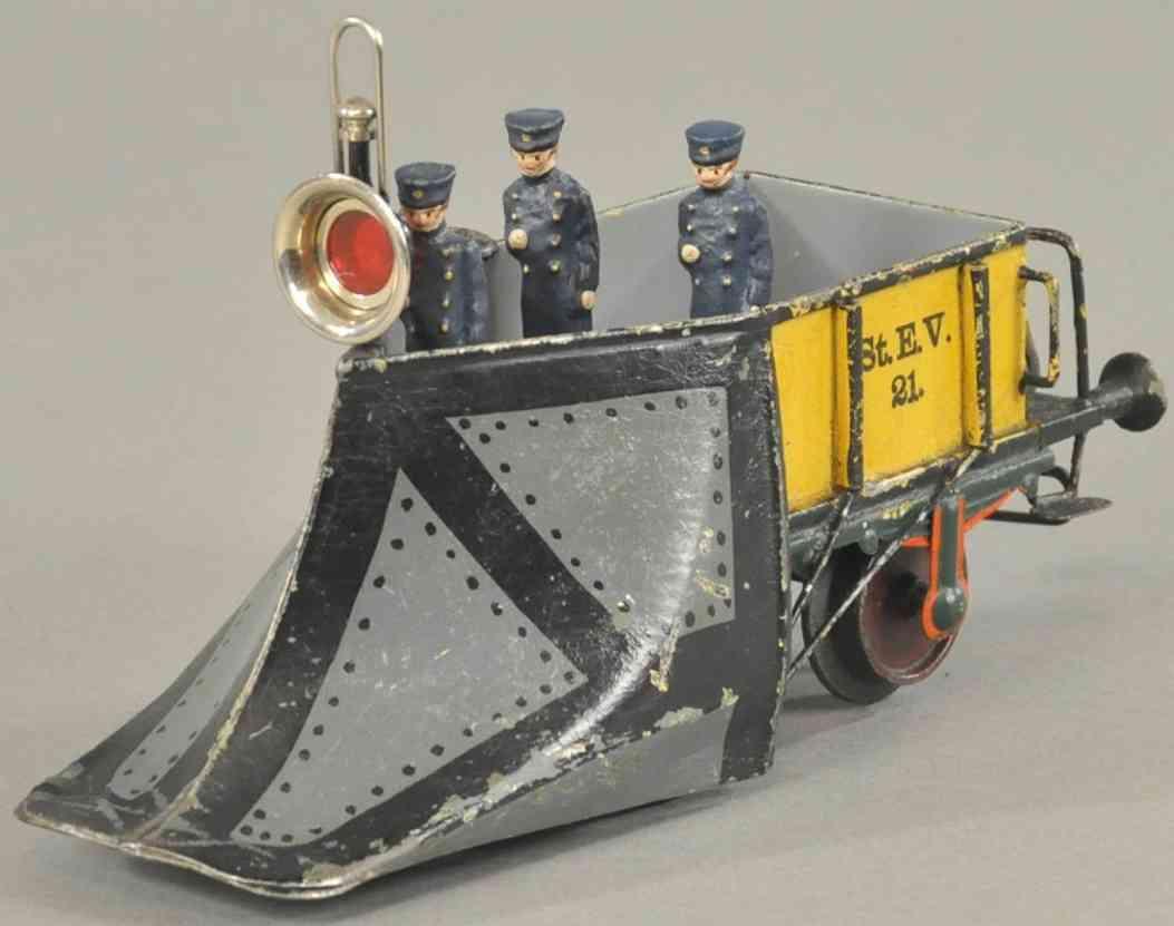 maerklin 1888/1 spielzeug eisenbahn schneepflug orange schwarz grau spur 1