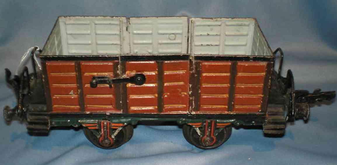 maerklin 1889/1 spielzeug eisenbahn offener gueterwagen braun spur 1