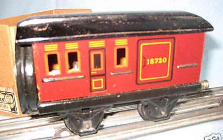 maerklin 1890/0 spielzeug eisenbahn schneeschleuderwagen mit spiralfeder in rot spur 0