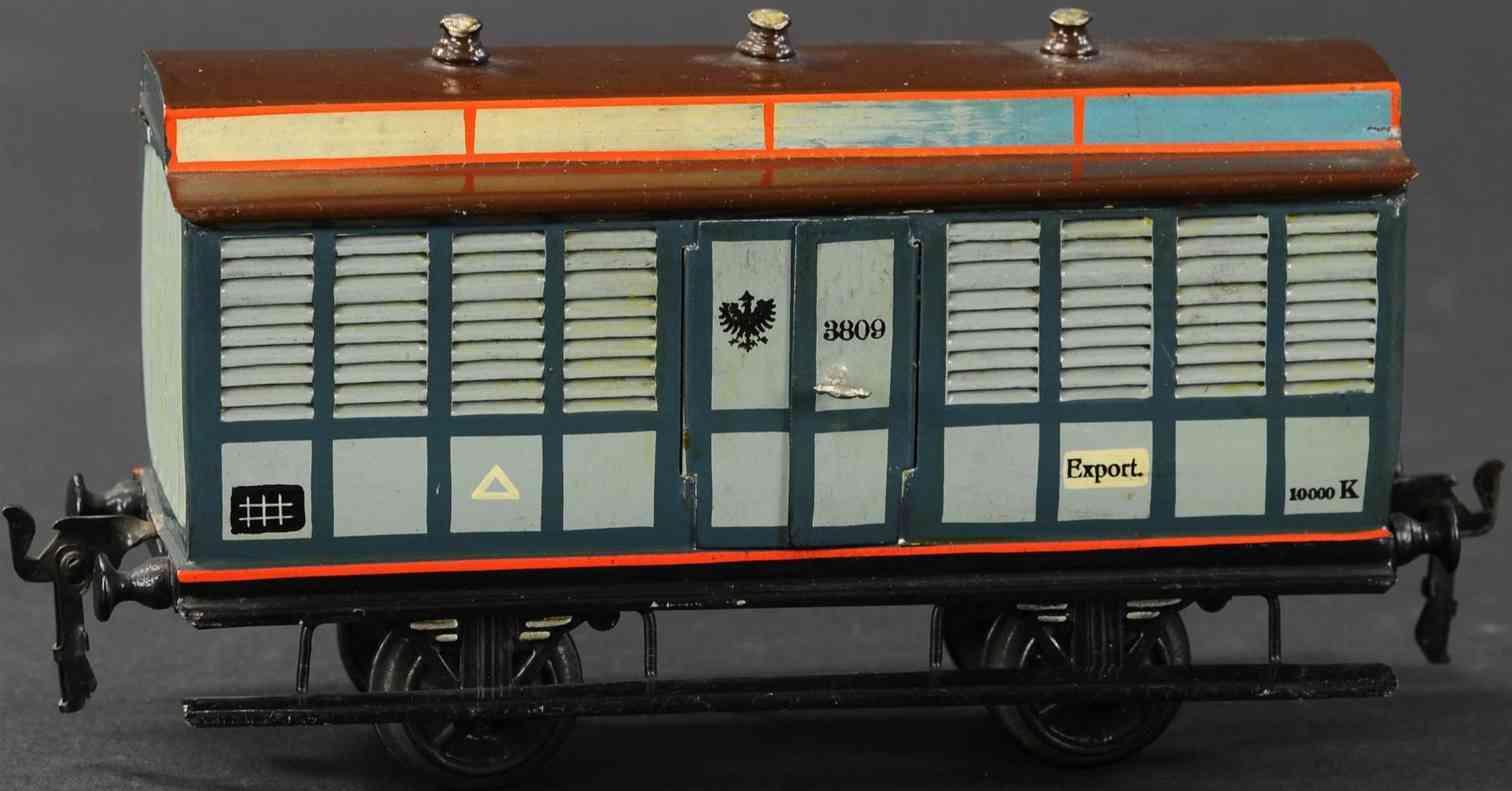 maerklin 1909/1 spielzeug eisenbahn fruechte-transportwagen spur 1