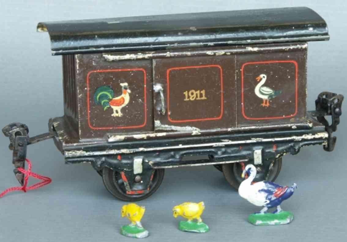 maerklin 1911/0 spielzeug eisenbahn gefluegelwagen spur 0