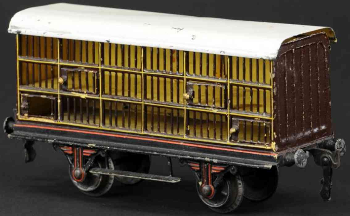 maerklin 1911/1 lnwr 3811 spielzeug eisenbahn englischer kleintierwagen
