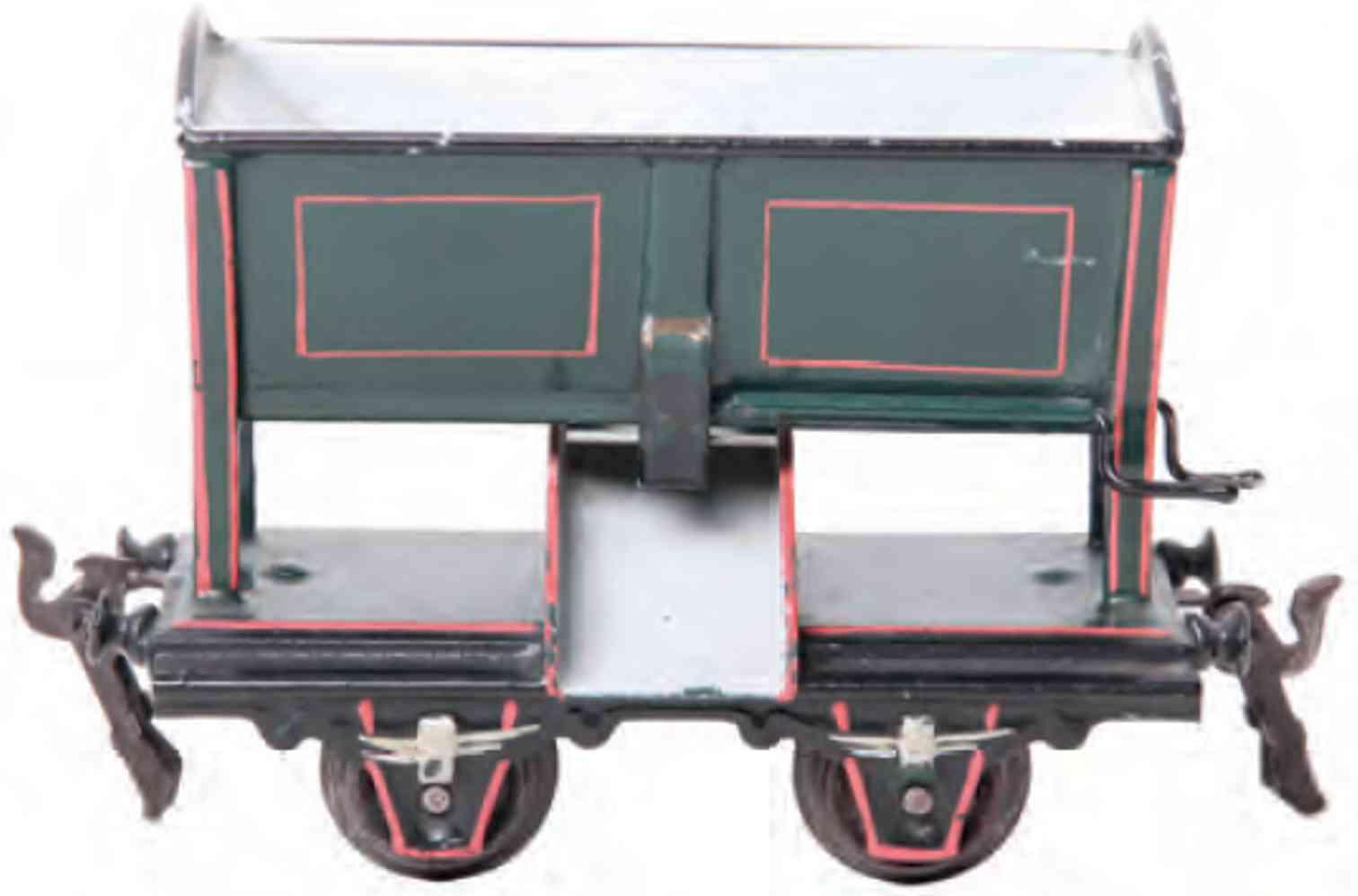 maerklin 1912/0 spielzeug eisenbahn muldenwagen gruen spur 0