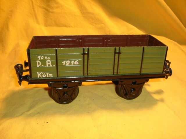 maerklin 1916/1 spielzeug eisenbahn hochbordwagen gruen braun spur 1